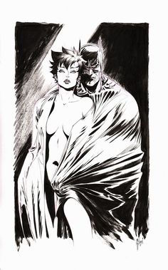 Batman and Catwoman by Guillem March