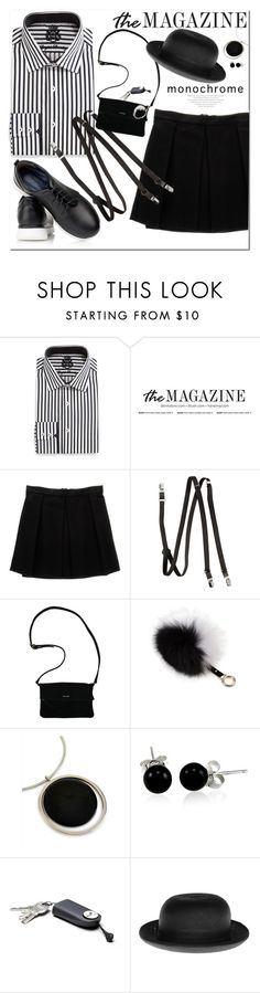 """Monochrome Mama"" by adduncan ❤ liked on Polyvore featuring English Laundry, Enza Costa, H&M, Adrienne Landau, Jaeger, Bling Jewelry, Christys', monochrome, blackandwhite and spring2016"