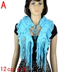 woollen winter jewelry scarves with zind alloy pendants and resin beads,NL-2052A #welldone