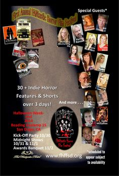 Official promo material for FANtastic Horror Film Festival this Halloween in San Diego California.
