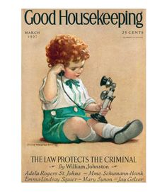 Good Housekeeping magazine cover, March 1927 Buy a poster of this cover