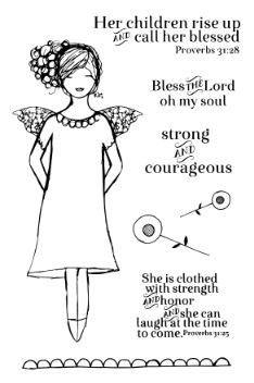 "Cassandra Cushman ""Strong & Courageous"" Acrylic Stamps"