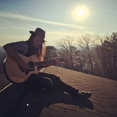 Picker on the roof Photo credit @clarkinaday @taylorguitars