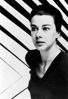 Op-Art icon Bridget Riley in the 1960s