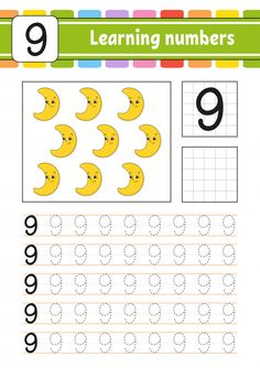 Trace and write. learning numbers for kids. Preschool Number Worksheets, Literacy Worksheets, Numbers Kindergarten, Numbers Preschool, Preschool Curriculum, Learning Numbers, Preschool Learning, Worksheets For Kids, Toddler Learning Activities
