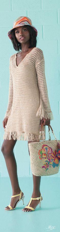 Spring 2016 Ready-to-Wear Trina Turk crochet summer dress.  women fashion outfit clothing stylish apparel @roressclothes closet ideas
