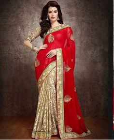 https://www.a1designerwear.com/taking-red-and-beige-georgette-saree