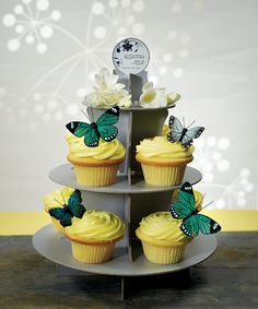 Butterfly Spring Wedding Party Cake Topper Decoration Set Hand Painted Feathers   eBay