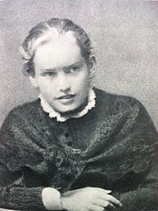 Lou Andreas Salome looking about 17--and like she has something to say.