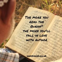 The more you read the Quran the more you'll fall in love with author Holy Quotes, Wise Quotes, Qoutes, Imam Ali Quotes, All About Islam, Allah Love, Beautiful Islamic Quotes, Islamic World, Holy Quran