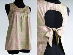 This is a good idea for an apron. Cobbler Aprons, Diy Fashion, Fashion Outfits, Cute Aprons, Sewing Aprons, Blazers, Love Sewing, Couture, Cycling Outfit