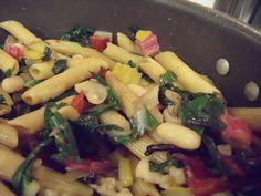 Chard and White Bean Whole Wheat Pasta