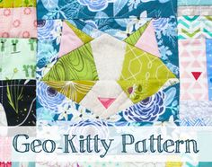 I'm super excited to be hosting the Kitty Mini Quilt Swap  on Instagram! I hope you've been following everyone's progress on the #kitty...
