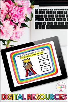Digital Learning provides kids with the opportunity to learn anywhere, anytime. These consonant digraph BOOM Cards are a perfect for kids to learn digraphs outside the classroom. Reading Comprehension Activities, Phonics Reading, Reading Games, Teaching Strategies, Phonics Games Online, Literacy Games, 1st Grade Activities, Phonics Activities, Learning Apps