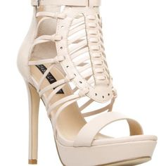 Cream strapped heels Super comfortable and fab! Shoes Heels