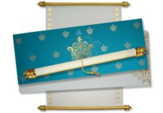 Scroll Invites with Turquoise Blue theme suitable for several occasions including Birthdays, Engagement and Wedding. Scroll Wedding Invitations, Scroll Invitation, Discount Wedding Invitations, Affordable Wedding Invitations, Invites, Menu Cards, Table Cards, Wedding Boxes, Wedding Cards