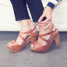 Vintage- 70- Style Platforms   Shoes like these have really made a comeback