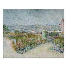 Montmartre Behind Moulin de la Galette by Van Gogh Perfect Poster