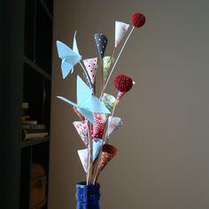 buquês de flores secas & corações
