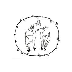 Deer Hand Embroidery Pattern Valentine's Printable Woodland Animal Digital Downloadable Download