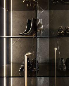 Shake Stand on Behance Walk In Wardrobe, Walk In Closet, Interior Stylist, Interior Design, Home Bar Rooms, Wardrobe Dresser, Transparent Box, Shoe Room, Used Cloth Diapers