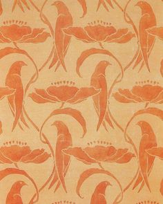 Wallpaper design, C F A Voysey