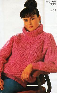 Womens mens aran sweater knitting pattern pdf ladies cable jumper ...