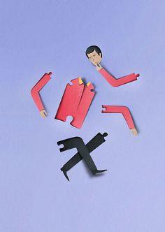 Illustraition for Herman Miller magazine 'Why' project by illustrator & graphic designer Eiko Ojala Paper Illustration, Creative Illustration, Graphic Illustration, Graphic Art, Paper Design, Design Art, Papercut Art, Eiko Ojala, Libros Pop-up
