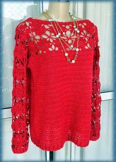 Fabulous Crochet a Little Black Crochet Dress Ideas. Georgeous Crochet a Little Black Crochet Dress Ideas. Black Crochet Dress, Crochet Blouse, Cute Crochet, Crochet Lace, Crochet Tops, Stylish Shirts, Lace Sweater, Knit Fashion, Fashion Art