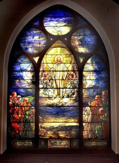 The Ecclesiastical Work of Louis Comfort Tiffany ~ Liturgical Arts Journal Stained Glass Church, Stained Glass Art, Stained Glass Windows, Mosaic Glass, Tiffany Stained Glass, Tiffany Glass, Art Nouveau, Church Windows, Leaded Glass