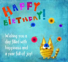 A cute happy birthday card with flowers and smiles for you! Free online Happy Birthday Flower Juggle ecards on Birthday Animated Happy Birthday Wishes, Happy Birthday Wishes For A Friend, Birthday Wishes Messages, Birthday Wishes Funny, Birthday Video Message, Birthday Greetings For Kids, Happy Birthday Gif Images, Birthday Wishes Flowers, Birthday Blessings