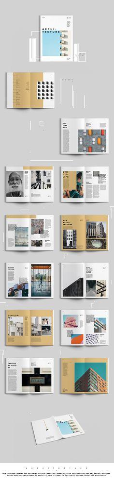 """다음 @Behance 프로젝트 확인: """"Architecture Magazine"""" https://www.behance.net/gallery/56795675/Architecture-Magazine"""