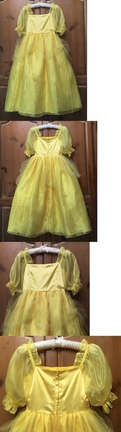 Halloween Costumes: Boutique Girls Gold Yellow Satin Princess Belle Ball Party Gown Costume 7 8 9 10 -> BUY IT NOW ONLY: $49.99 on eBay!