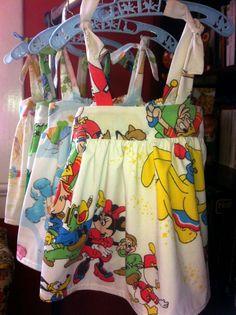 super cute vintage fabric disney dress