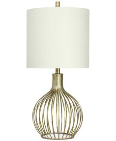 StyleCraft Transitional Metal Table Lamp - Lighting & Lamps - For The Home - Macy's