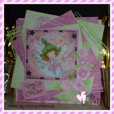 Tatty Twinkle card made using tattered lace starlight dies. Coloured with promarkers