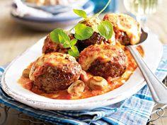 Frikadellen - köstliche Buletten-Vielfalt - ofenfrikadellen-tomaten-sahne  Rezept