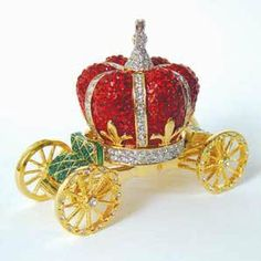 crystal carriage box | RED Crown Carriage Box Swarovski Crystals 24K Gold Miniature Jewelry  ...  A carriage laden with valuables is one of the most auspicious good fortune symbols to display. It can attract plenty of wealth luck into the abode where it dwells.