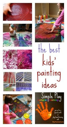 The best kids painting ideas | NurtureStore :: inspiration for kids