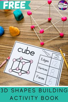 Shape Activities Kindergarten, 3d Shapes Activities, 2nd Grade Activities, 1st Grade Learning Games, Shapes For Kids, Math For Kids, Montessori, Lesson Planning, Play Dough