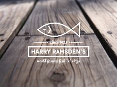 Logo I did for a uni project, be-branding Harry Ramsden's.  Scott Dootson.1992. Salford University. England