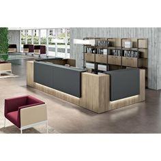 banque d 39 accueil z2 weng et blanche par design mobilier bureau gamme z2 par officity dental. Black Bedroom Furniture Sets. Home Design Ideas