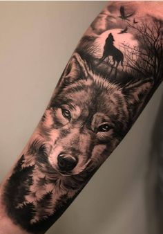 Amazing and Best Arm Tattoo Design Ideas For 2019 Part arm tattoo ideas; arm tattoo for girls; arm tattoos for girls; arm tattoos for women; arm tattoos female Source by aslanprjn Wolf Tattoo Forearm, Wolf Tattoo Sleeve, Forarm Tattoos, Forearm Sleeve Tattoos, Tattoos For Arm, Arm Tattoo Ideas, Female Arm Tattoos, Arm Tattoo Men, Wolf Pack Tattoo