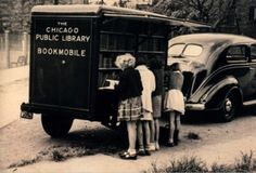 One of the joys of my childhood was the bookmobile! The other was the ice cream truck. via Content in a cottage