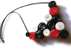 Black Red and White Necklace #festive #giftidea