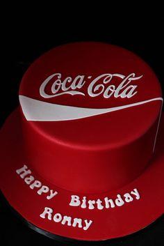 Coca Cola cake Chocolate cake with chocolate butter cream Coca Cola Party, Coca Cola Cake, Coke Cake, Vintage Coca Cola, Cupcakes, Cupcake Cookies, Creative Cakes, Unique Cakes, Beautiful Cakes