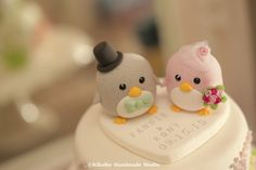 penguin wedding cake topper --Special Edition