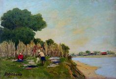 Lavadeiras, s.d. Homero Massena (Brasil, 1886-1974) óleo sobre tela