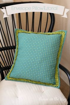 Envelope Pillow Shams Tutorial ~ House on the Way