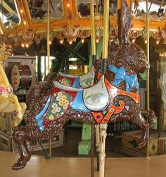 The Enchanted  Dentzel Carousel Menagerie Animals:  Rabbit - Castle Amusement Park